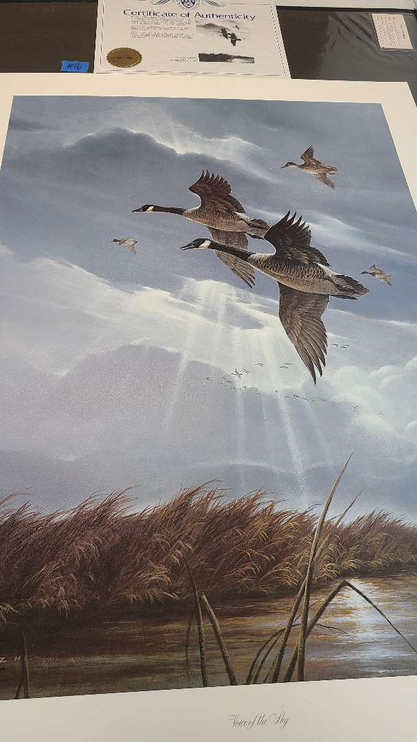 Lot # 16 Lot of 2 Canadian Geese Inspired Signed & Numbered Lithographs