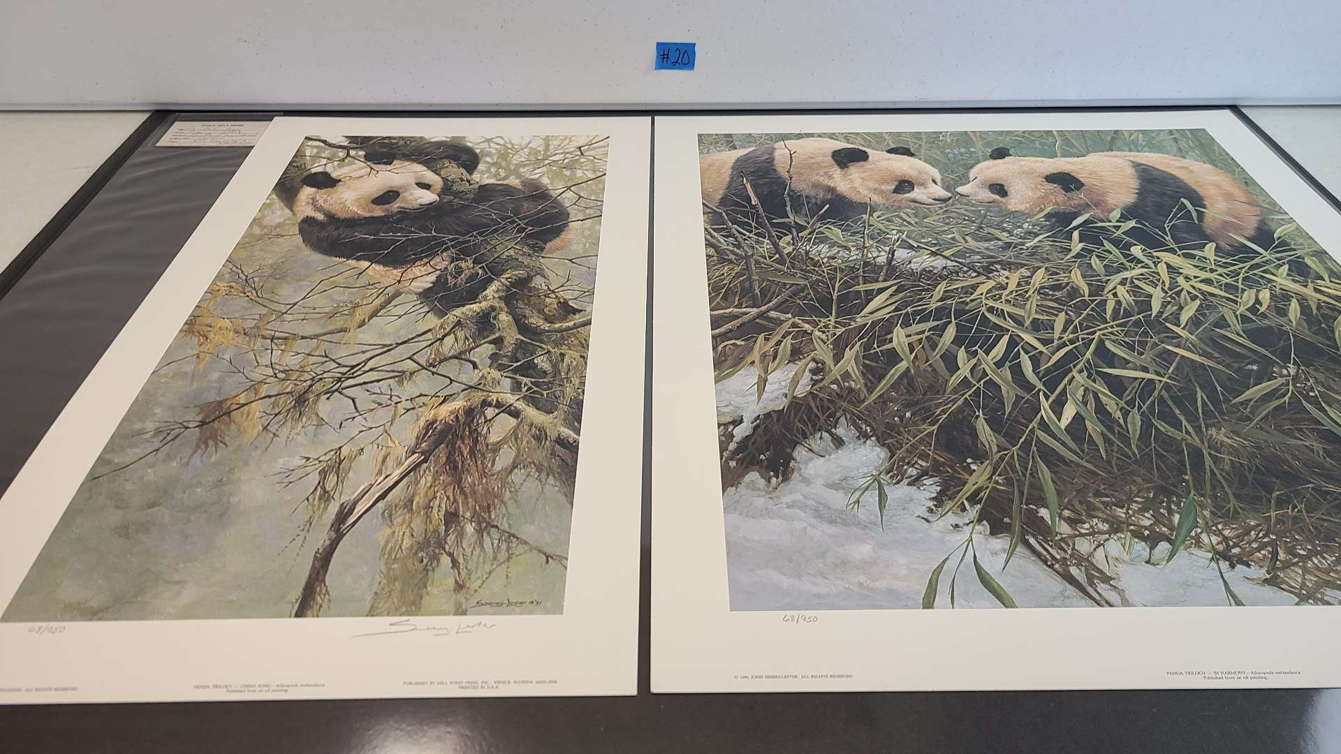 """Lot # 20 Beautiful """"Panda Trilogy-In Harmony"""" By John Seerey-Lester Signed & Numbered W/ Certificate of Authenticity"""