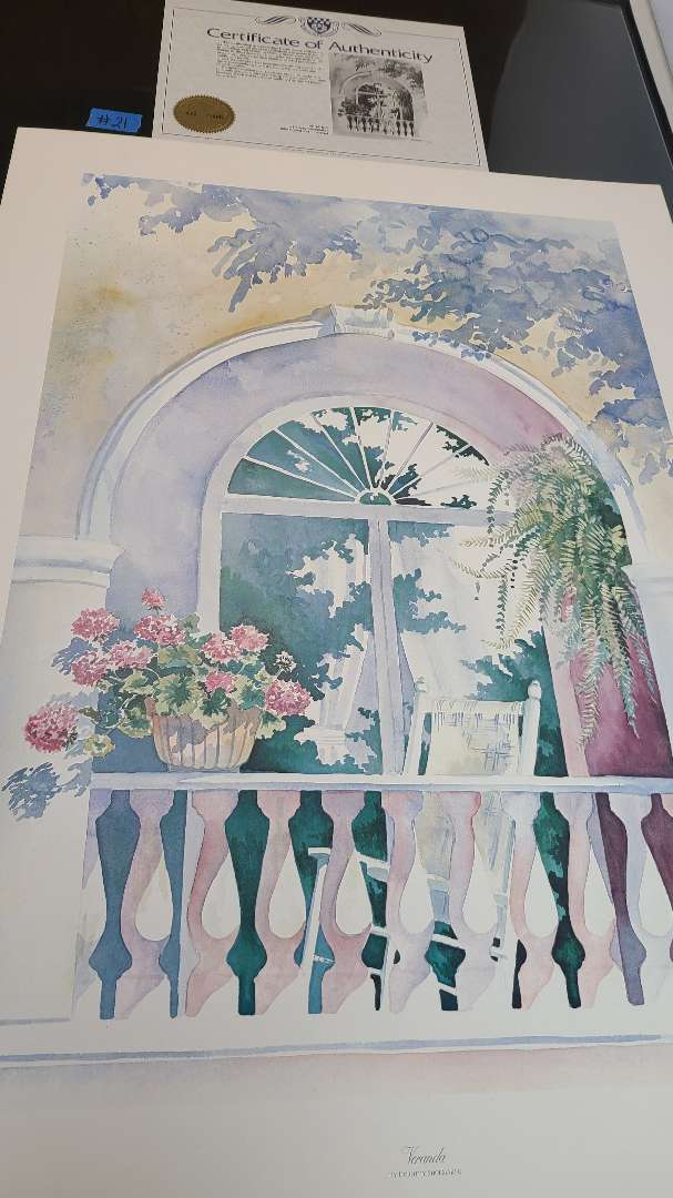 Lot # 21 Lot of 2 Signed & Numbered Lithographs