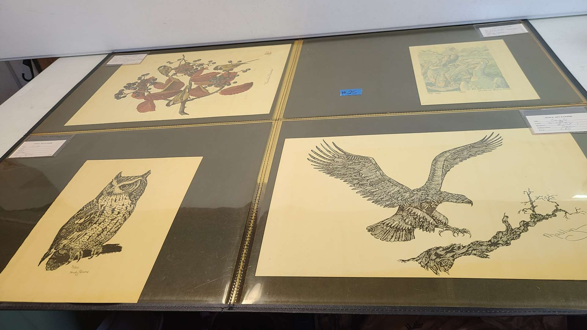 Lot # 25 Lot of 8 Small Lithographs-Some Signed & Numbered-Some Just Signed