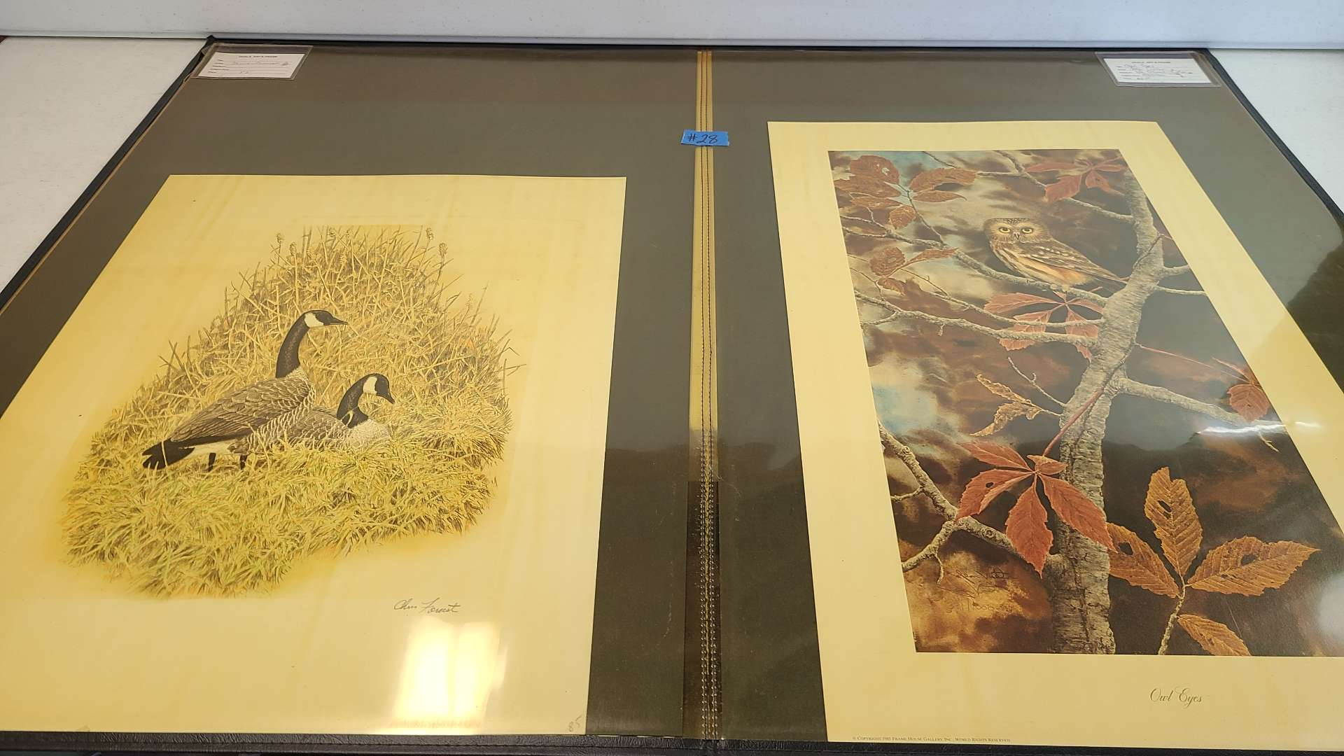 Lot # 28 Lot of 4 Bird Inspired (4 Signed & 2 Numbered) Lithographs