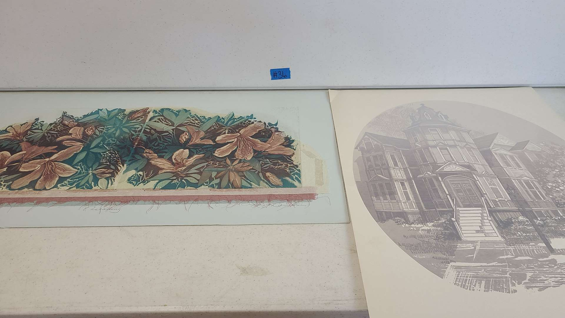 Lot # 36  Lot of 2 Pretty Signed & Numbered Lithographs