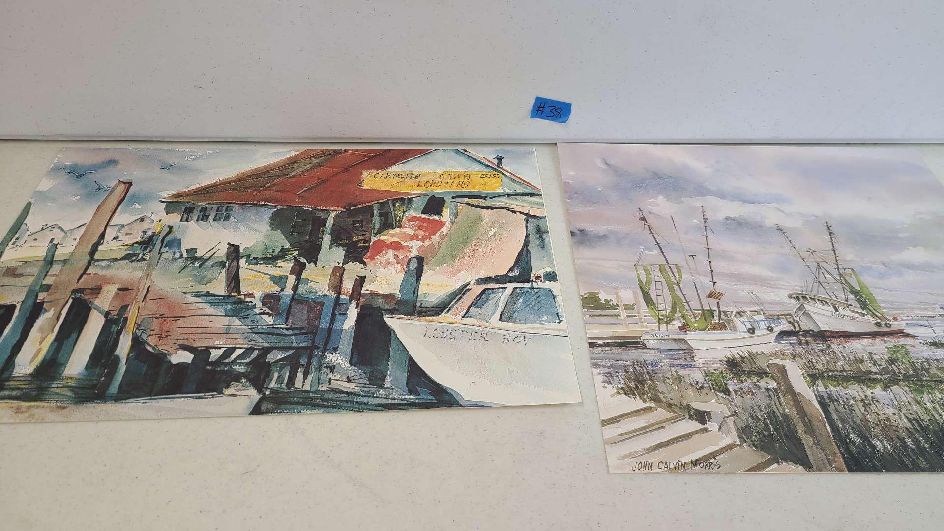 Lot # 38 Lot of 4 Beautiful Signed & Numbered Lithographs