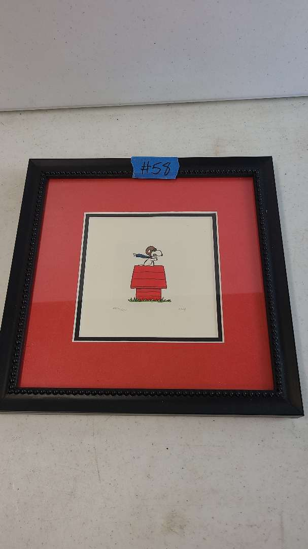 """Lot # 58 Adorable """"Peanuts"""" Framed Lithograph-Signed & Numbered"""