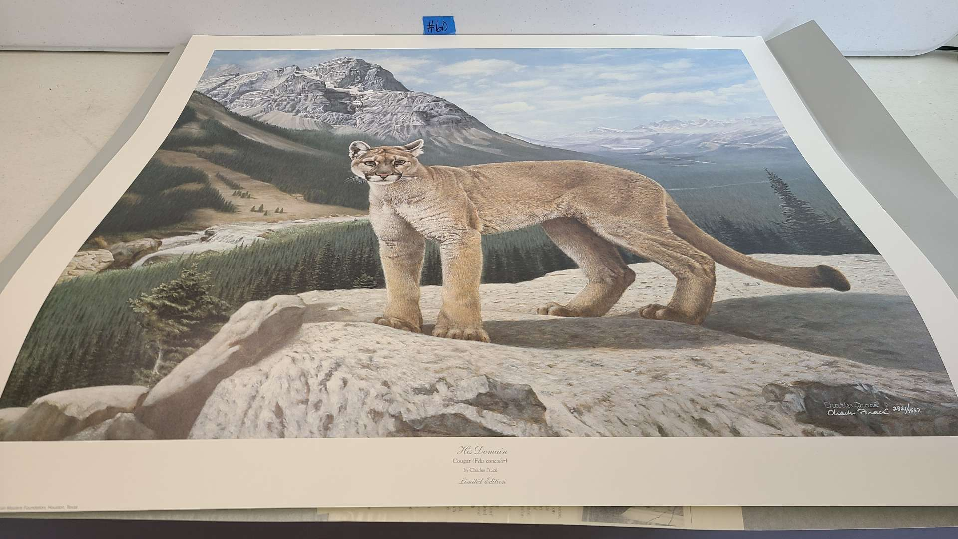 """Lot # 60 Stunning Charles Frace Limited Edition Print """"His Domain""""-Signed & Numbered"""