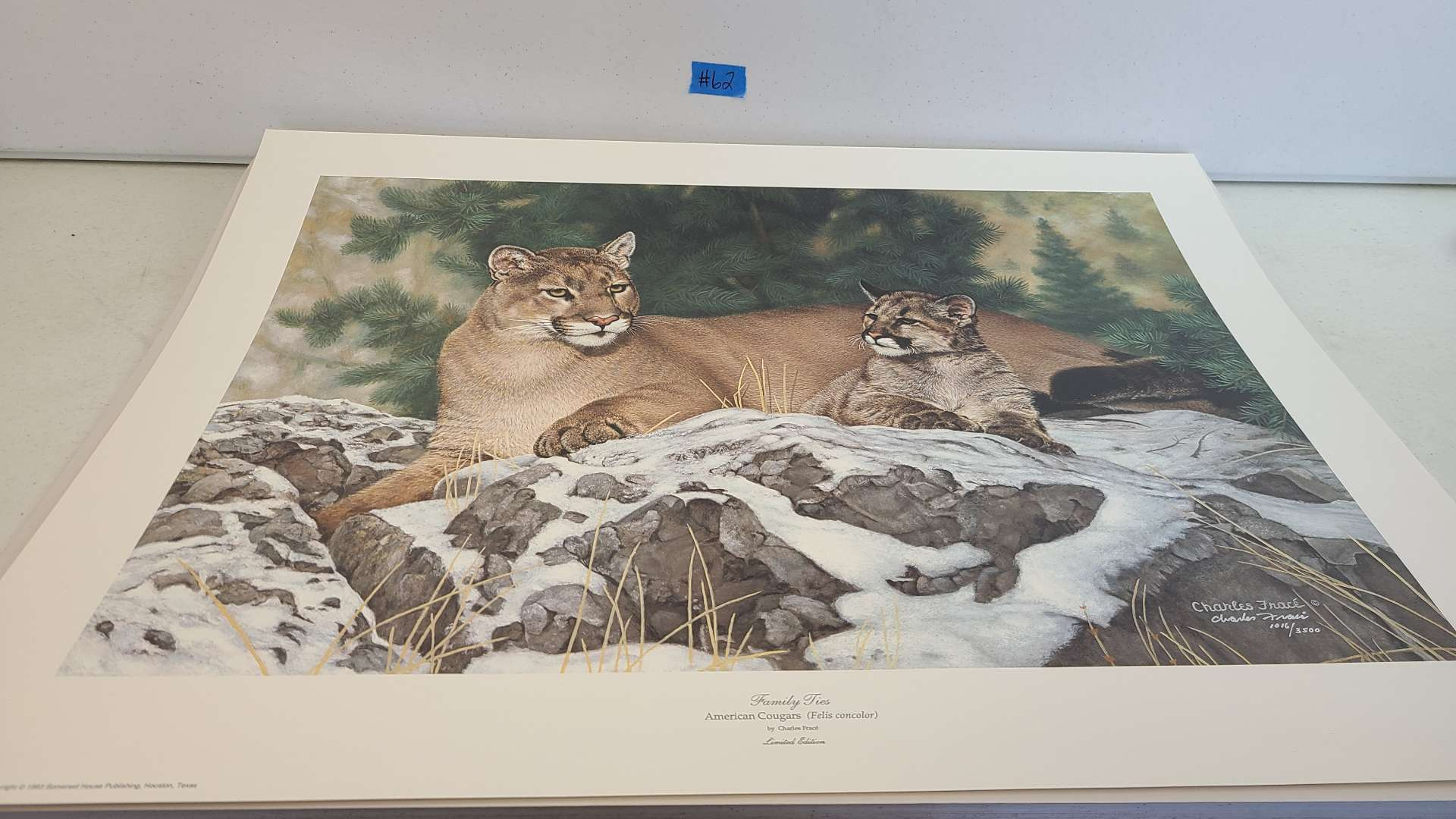 """Lot # 62 Stunning Charles Frace Limited Edition Print """"Family Ties""""-Signed & Numbered"""
