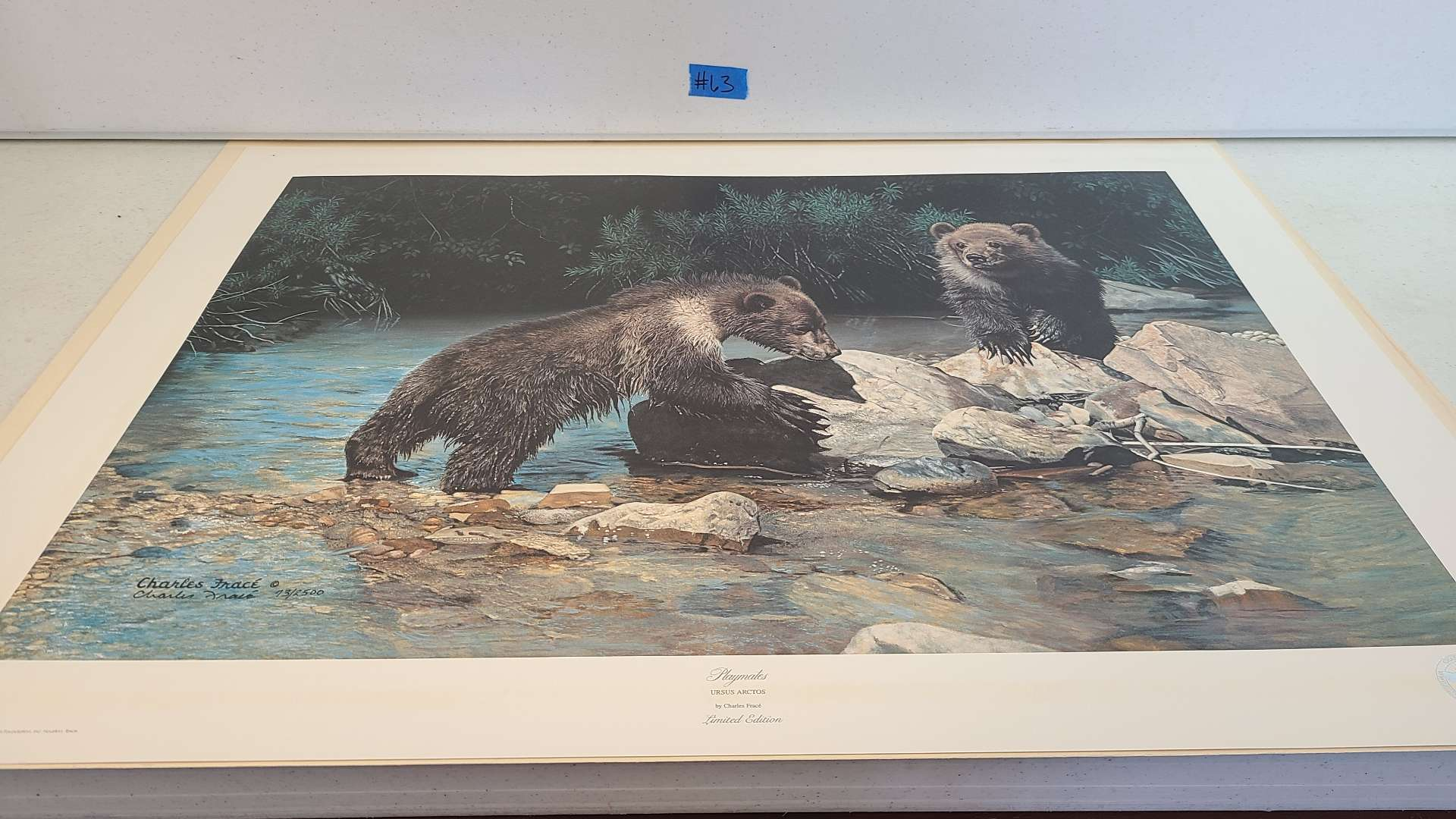 """Lot # 63 Stunning Charles Frace Limited Edition Print """"Playmates""""-Signed & Numbered"""