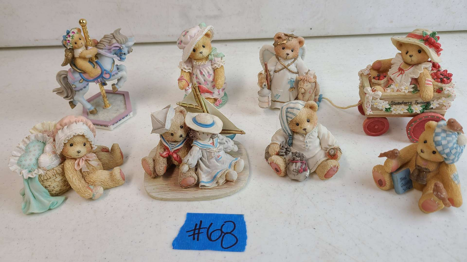 """Lot # 68 Lot of 4 Enesco """"Cherished Teddies"""" Collectable Figurines"""