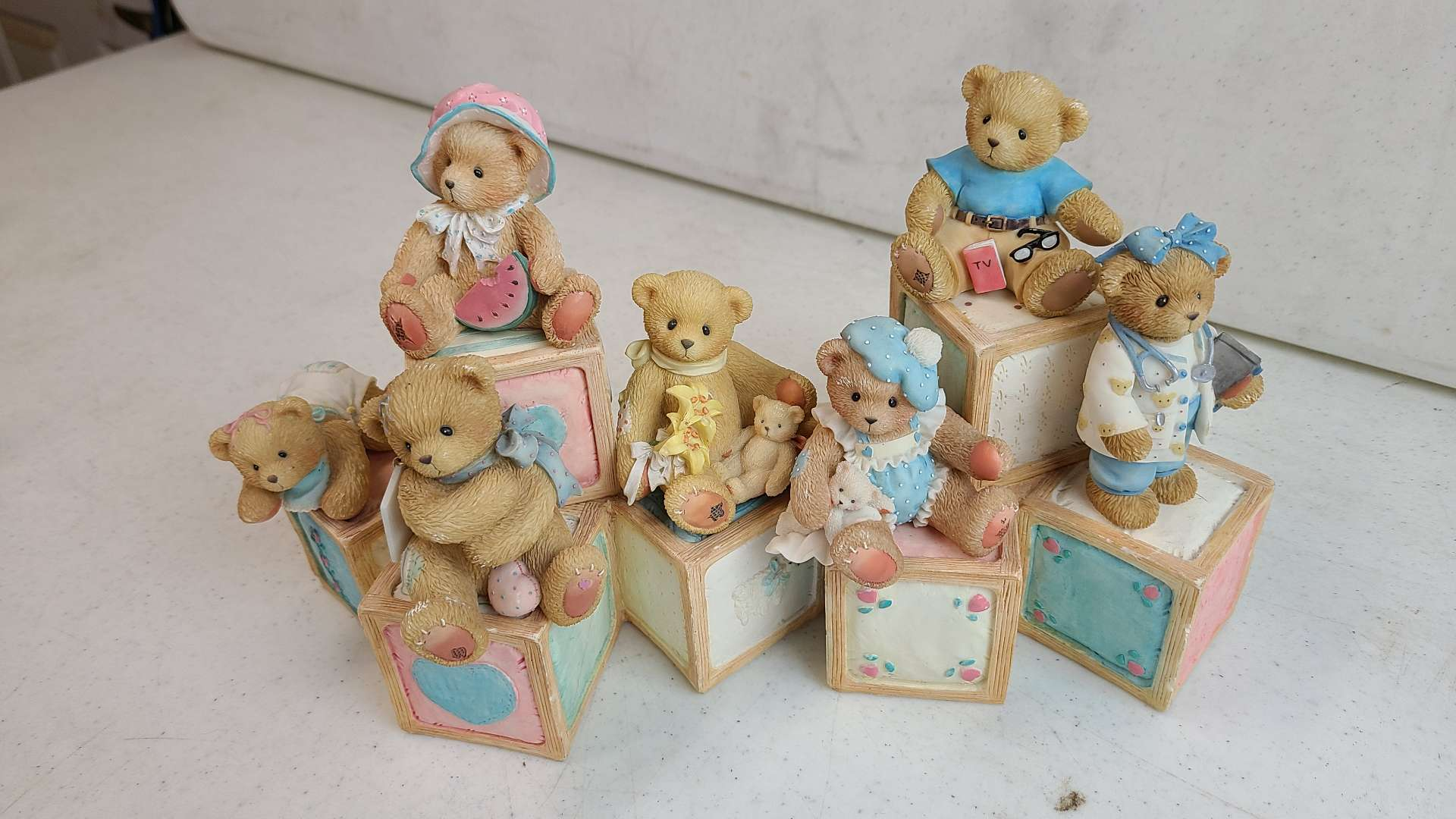 """Lot # 69 Lot of 6 Enesco """"Cherished Teddies"""" Collectable Figurines"""