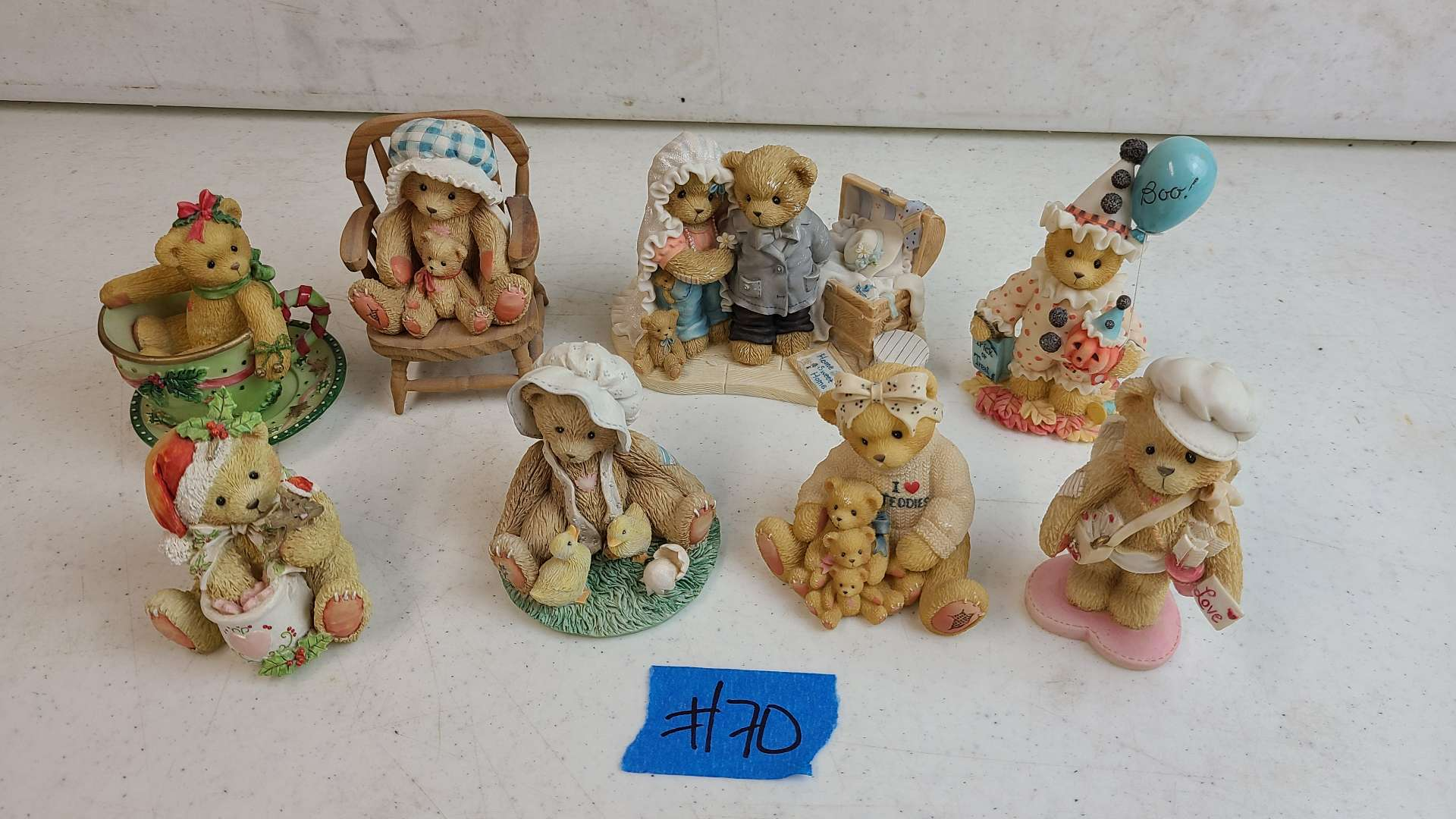 """Lot # 70 Lot of 6 Enesco """"Cherished Teddies"""" Collectable Figurines"""