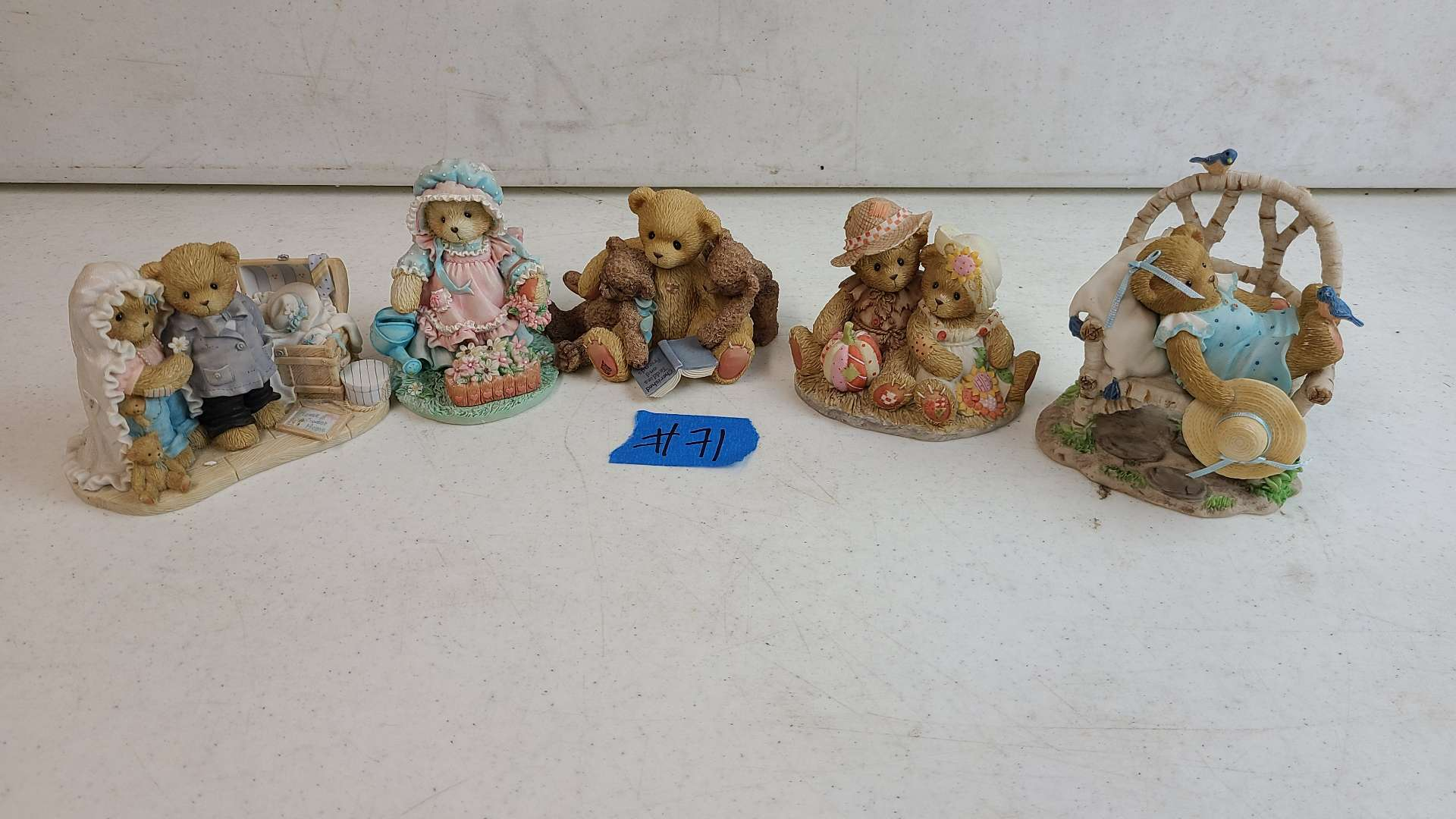 """Lot # 71 Lot of 3 Enesco """"Cherished Teddies"""" Collectable Figurines"""