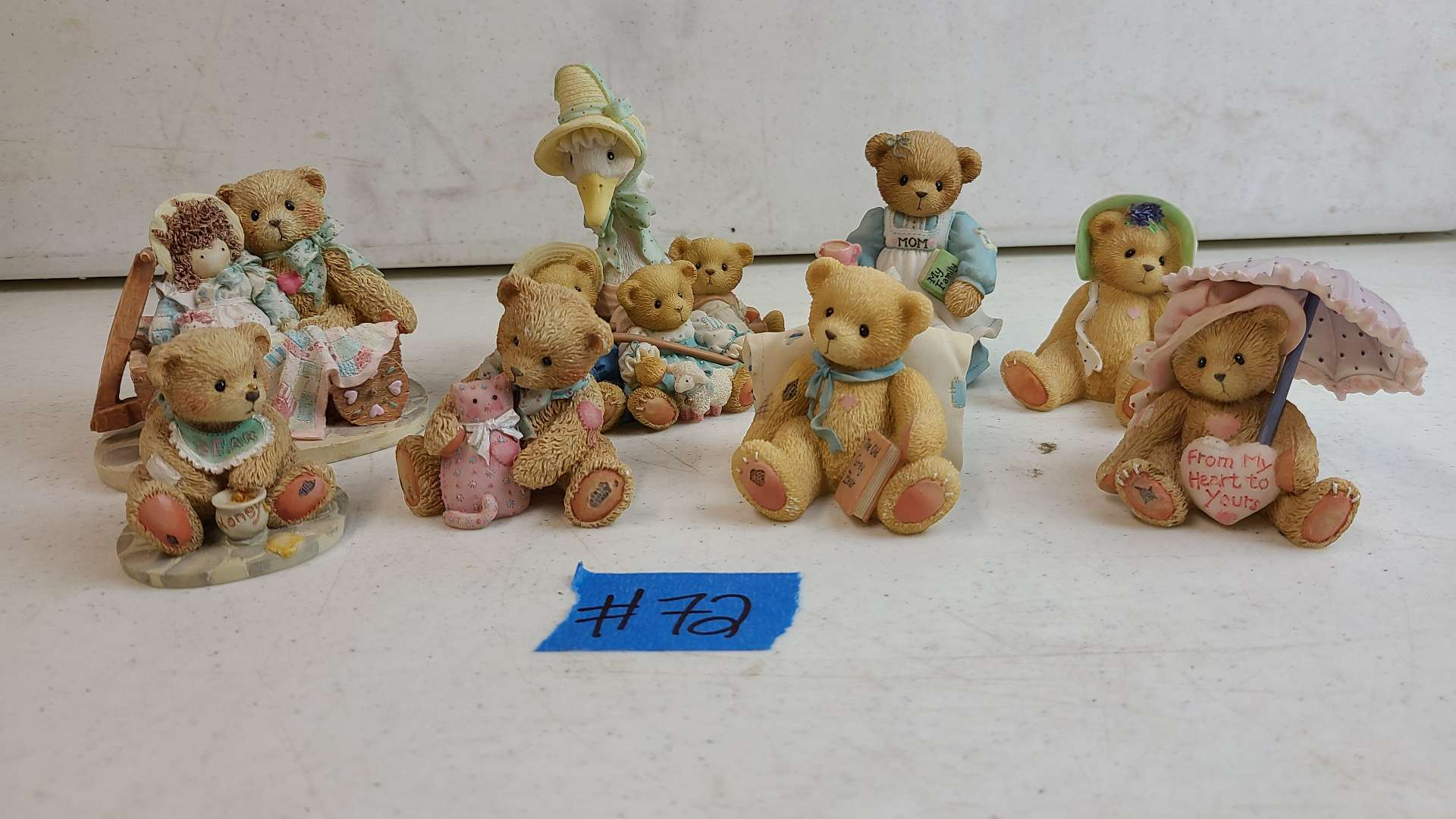 """Lot # 72 Lot of 8 Enesco """"Cherished Teddies"""" Collectable Figurines"""
