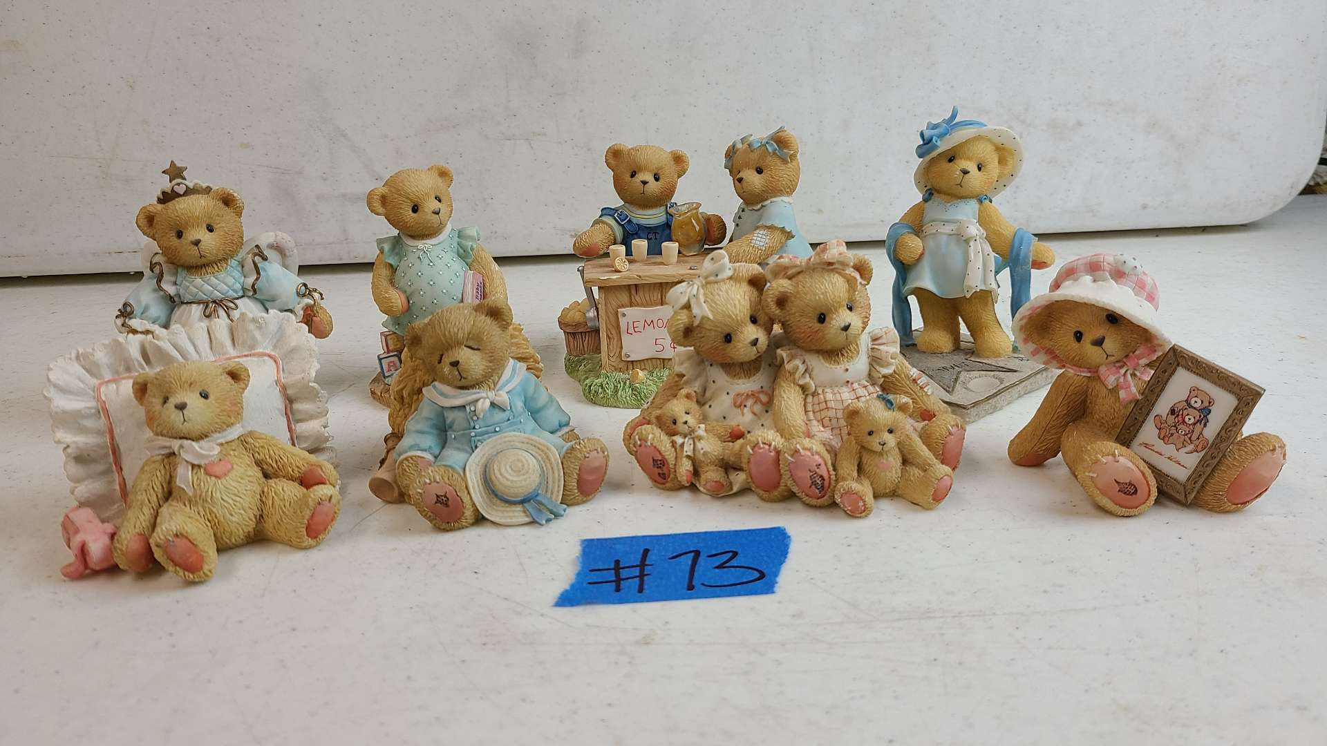 """Lot # 73 Lot of 8 Enesco """"Cherished Teddies"""" Collectable Figurines"""