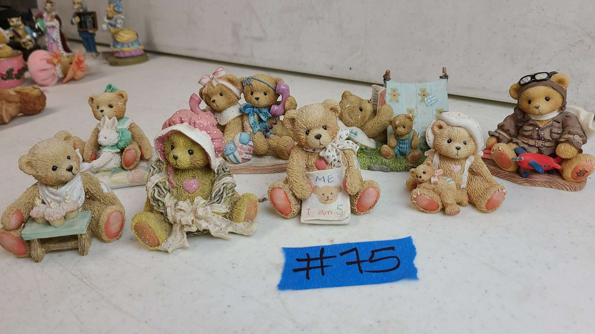 """Lot # 75 Lot of 8 Enesco """"Cherished Teddies"""" Collectable Figurines"""