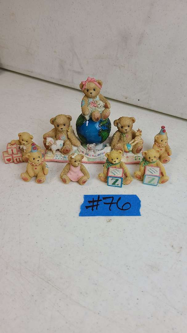 """Lot # 76 Lot of 5 Enesco """"Cherished Teddies"""" Collectable Figurines"""