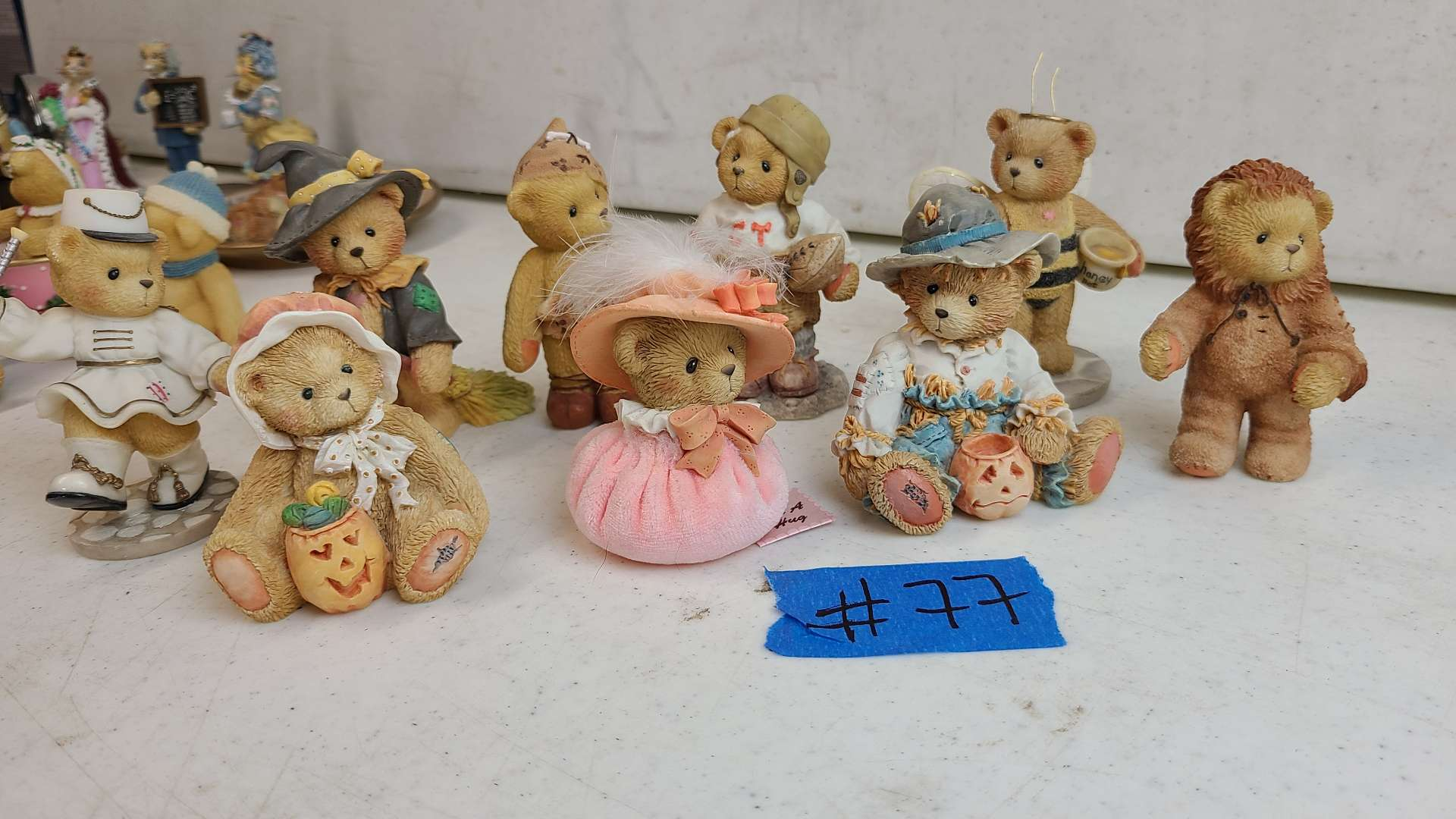 """Lot # 77 Lot of 7 Enesco """"Cherished Teddies"""" Collectable Figurines"""