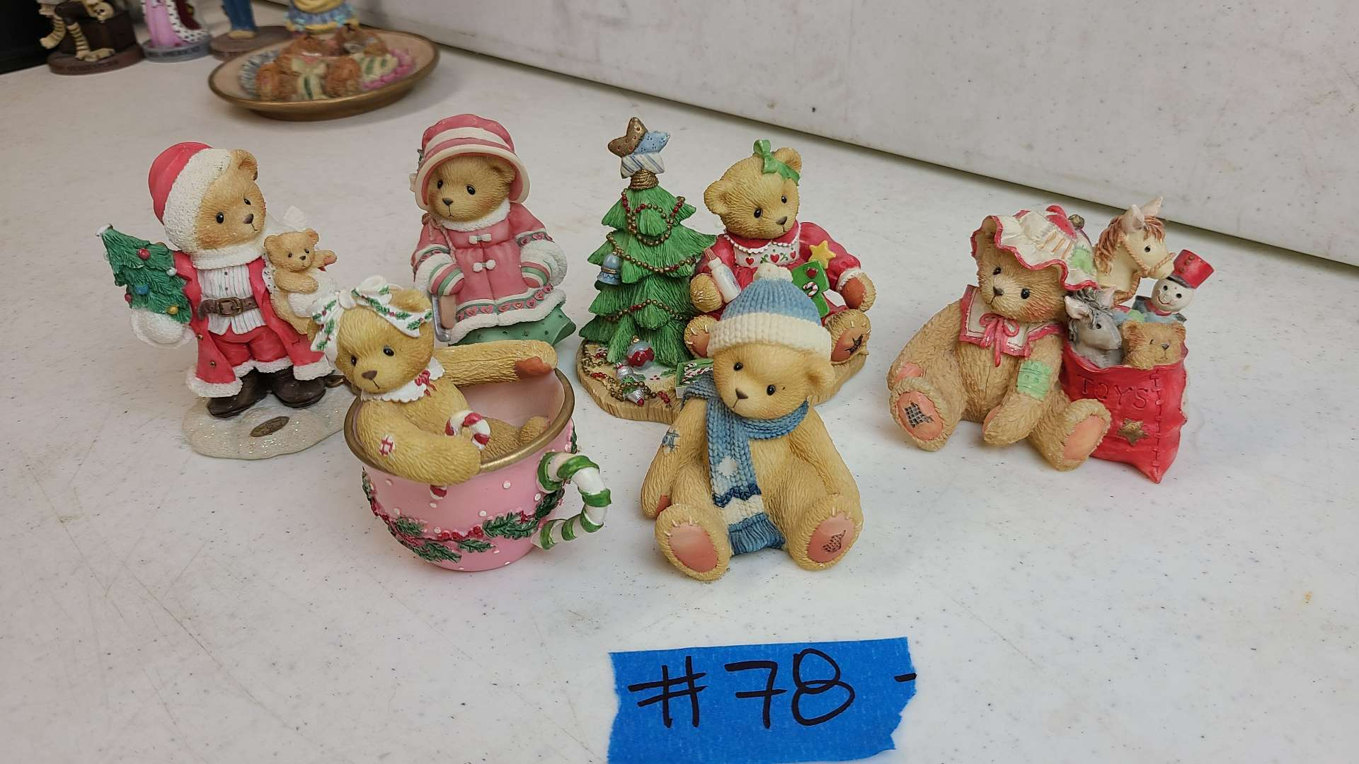"""Lot # 78 Lot of 4 Enesco """"Cherished Teddies"""" Collectable Figurines"""