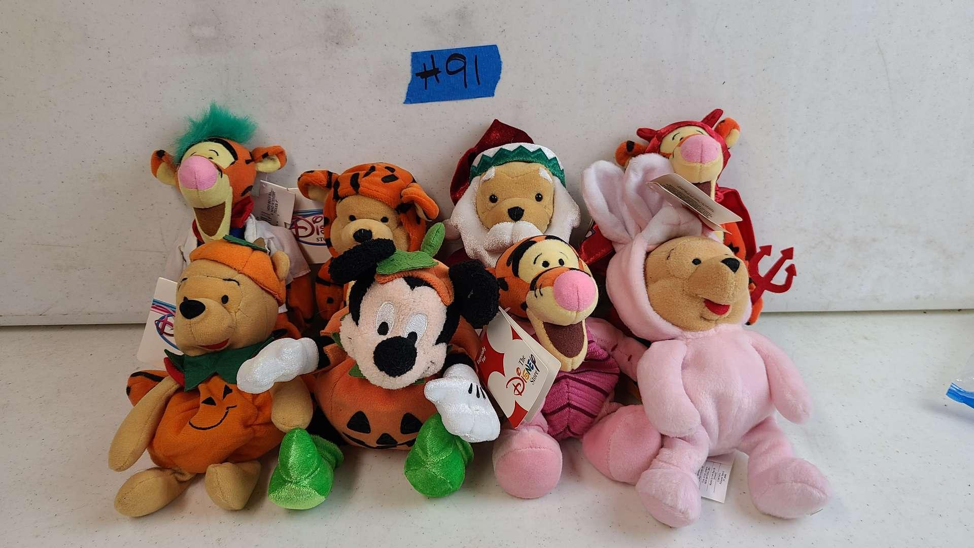 Lot # 91 Lot of Disney Plush Characters