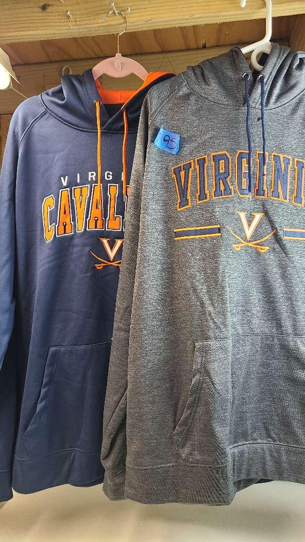 Lot # 95 Lot of 2 Virginia Cavaliers Team Hoodies (Size XXL)