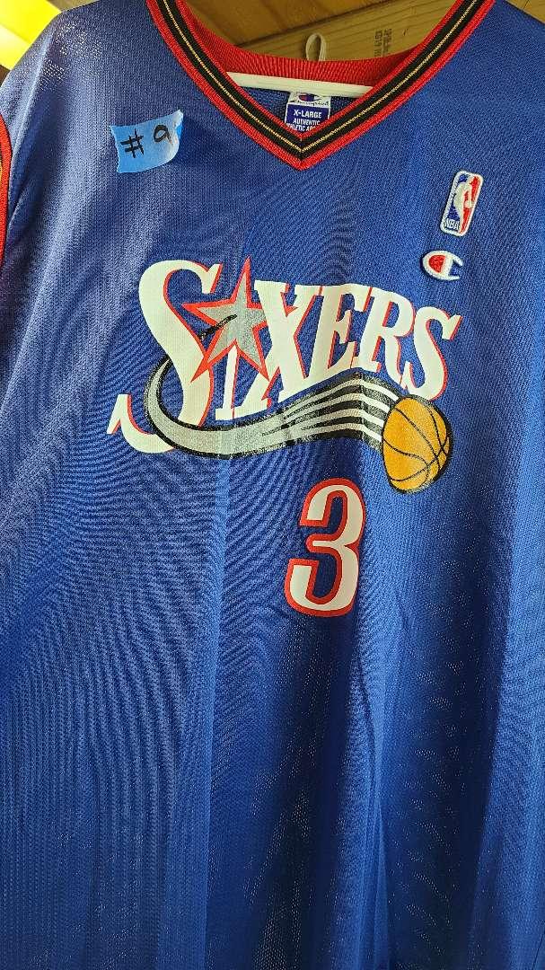 Lot # 96 Champion Sixers #3 Iverson Jersey (Size XL)