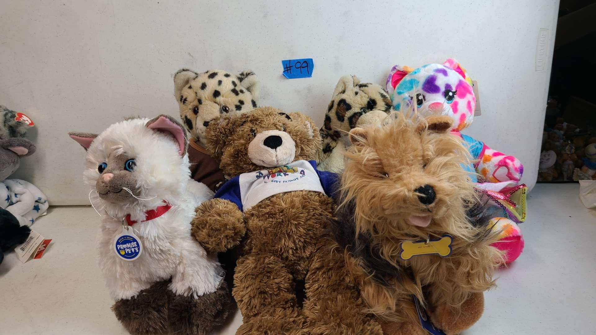 Lot # 99 Lot of 6 Build-A-Bear Wrokshop Bears
