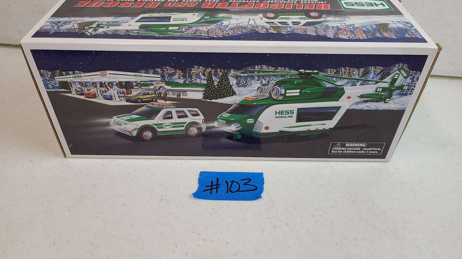 Lot # 103 HESS Helicopter & Rescue Vehicle-Still In Box