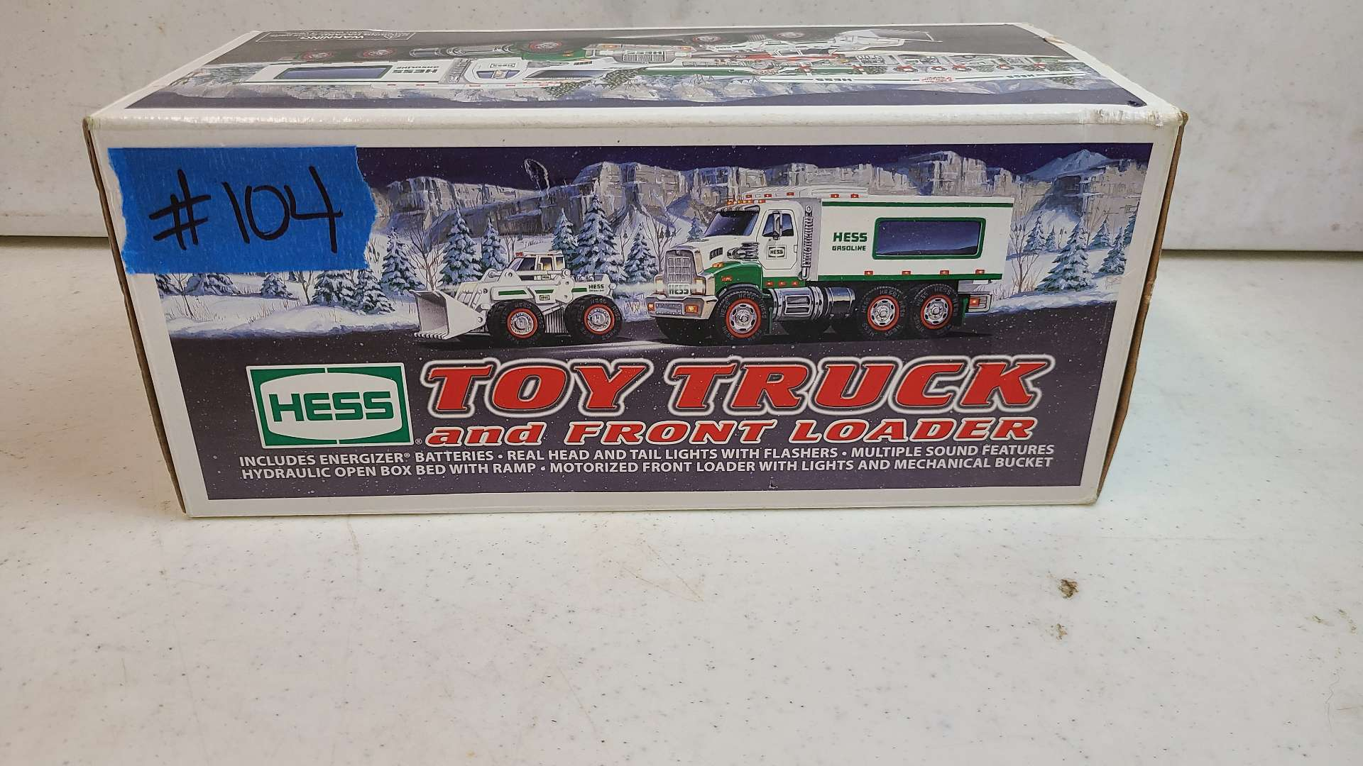 Lot # 104 HESS Toy Truck & Front Loader-Still in box