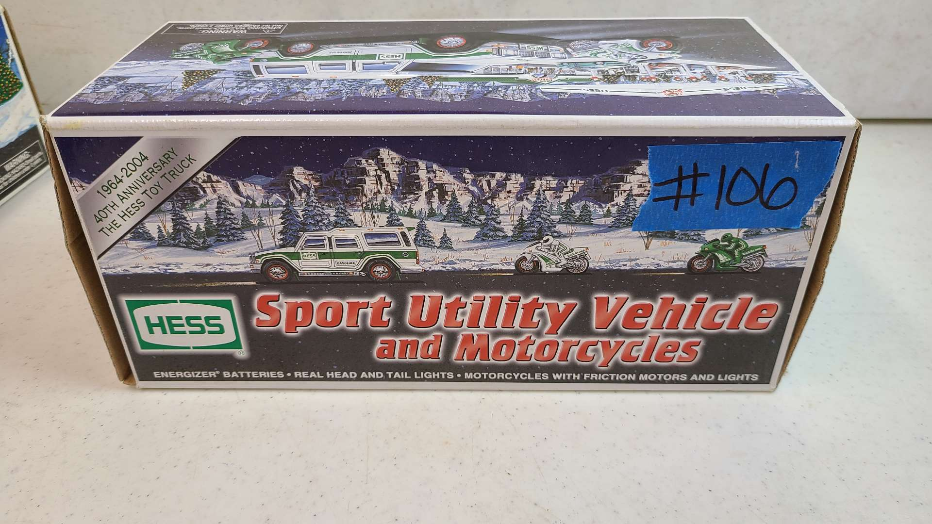 Lot # 106 HESS SUV and Motorcycles w/ Box
