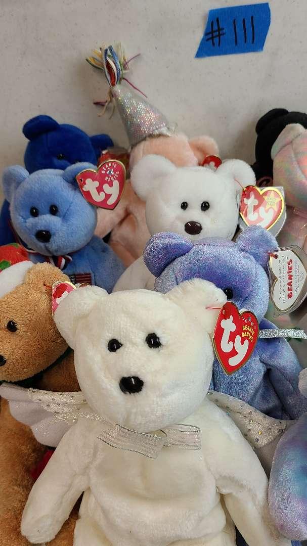 Lot # 111 Lot of TY Beanie Babies Bears