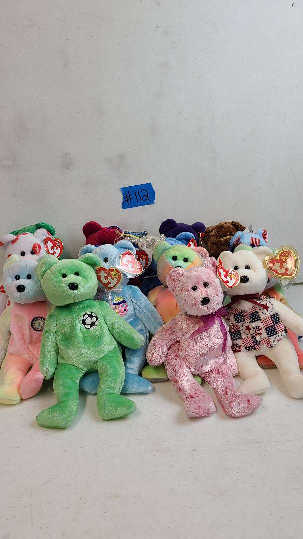 Lot # 112  Lot of TY Beanie Babies Bears