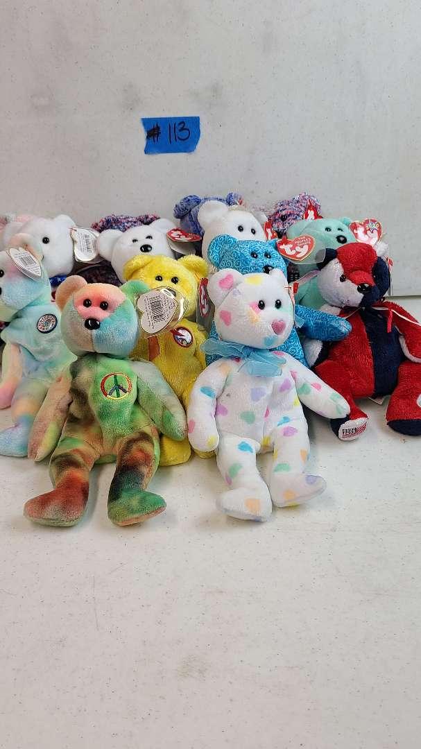 Lot # 113  Lot of TY Beanie Babies Bears
