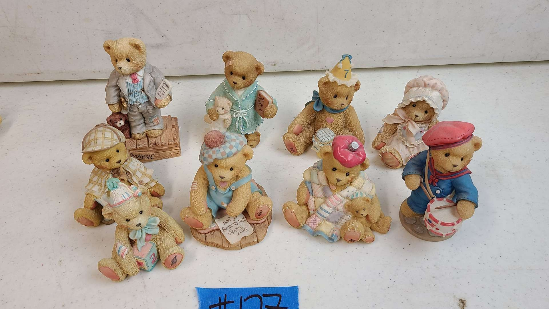 """Lot # 127 Lot of 8 Enesco """"Cherished Teddies"""" Collectable Figurines"""