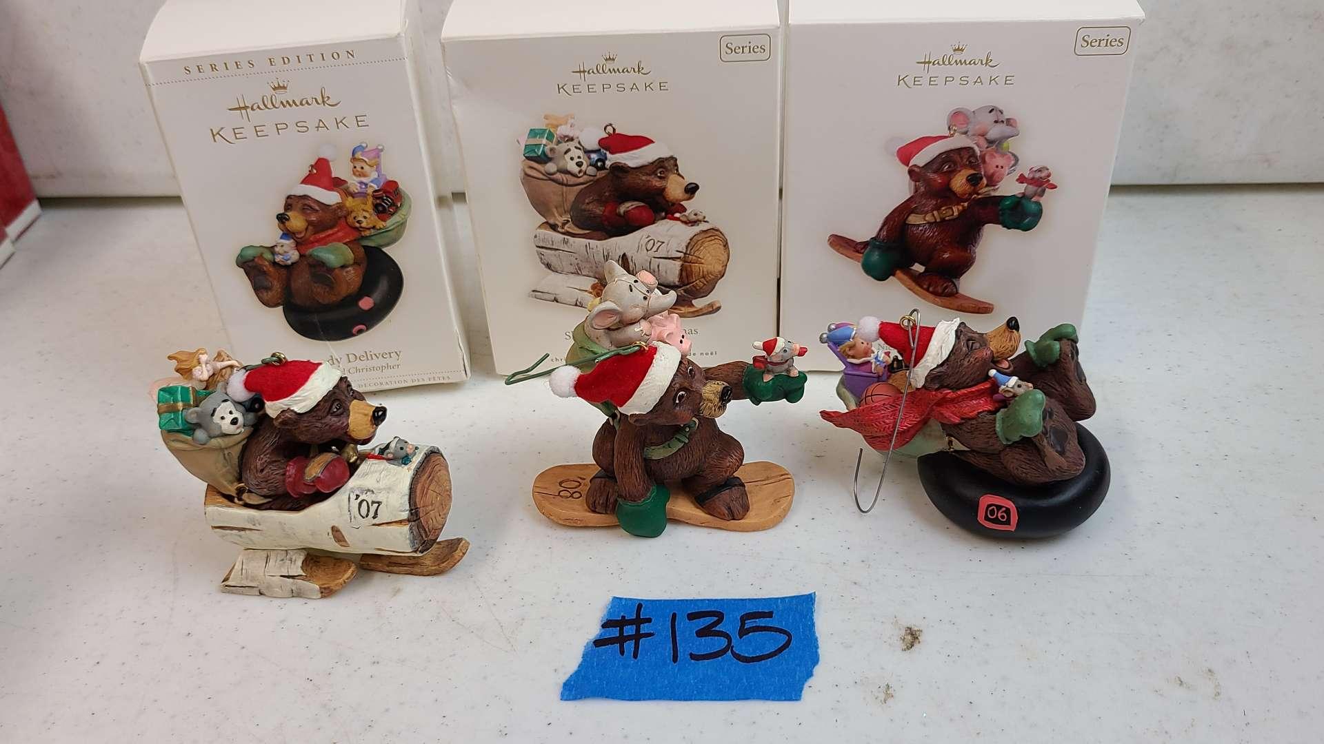 Lot # 135 Lot of Hallmark Keepsake Chirstmas Ornaments