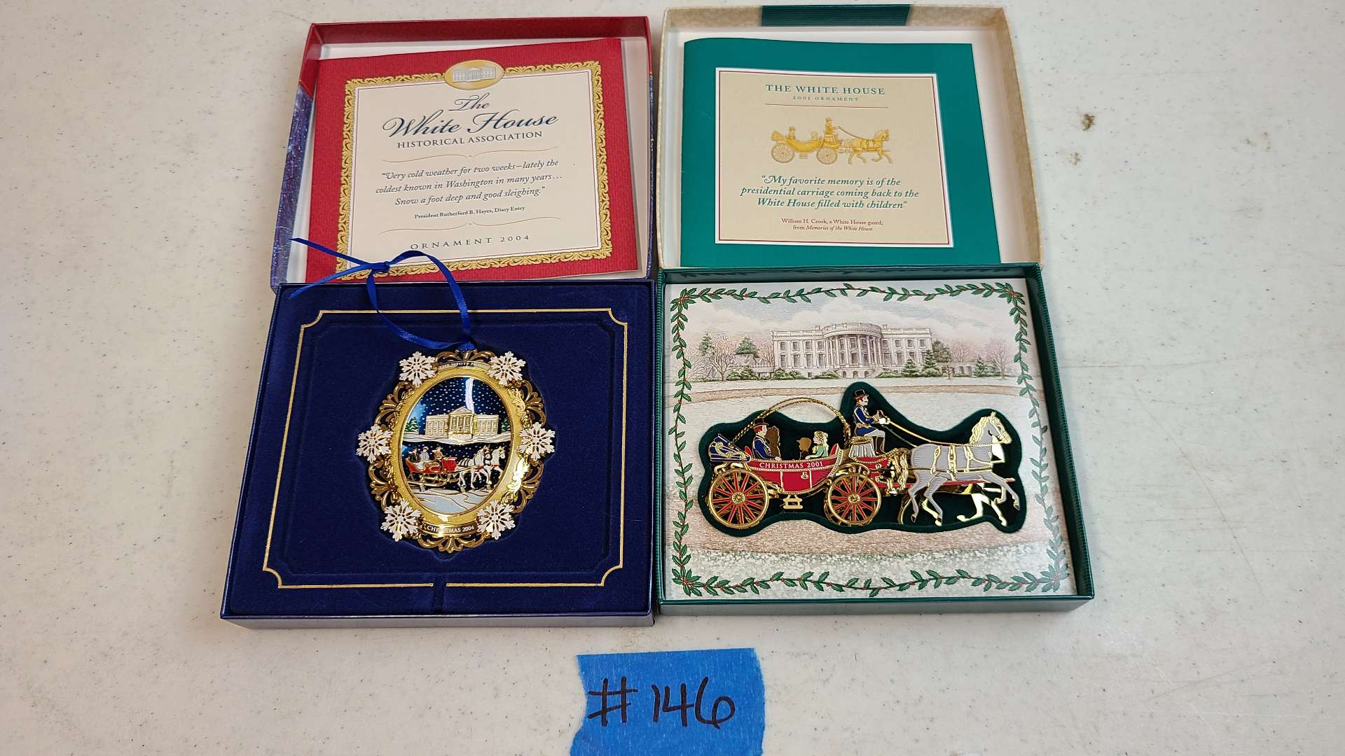 Lot # 146 The White House Historical Association Christmas Ornaments