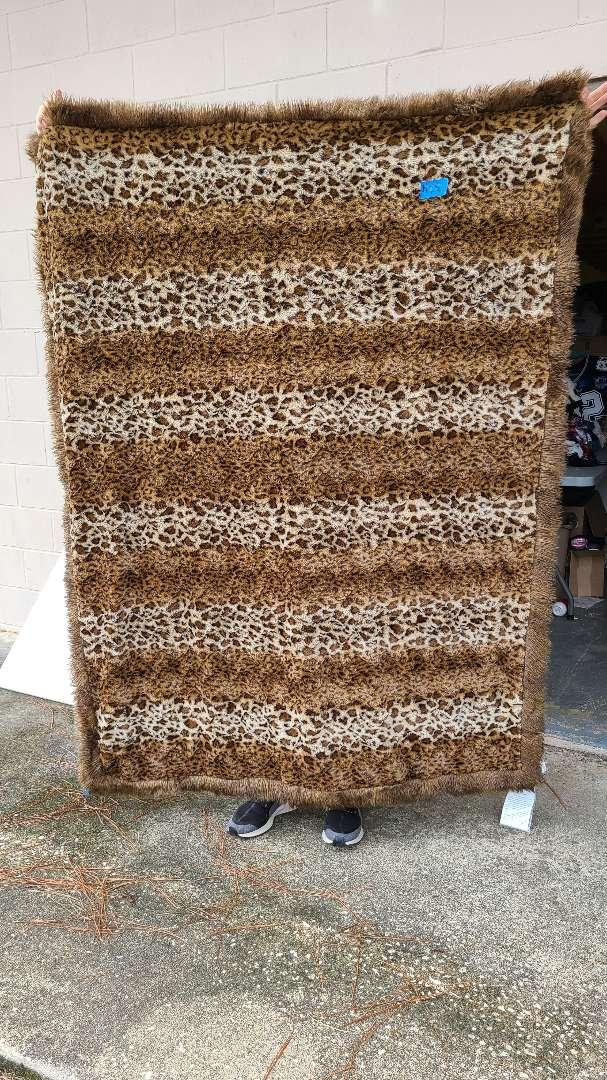 Lot # 150 Large Lap Animal Print Blanket