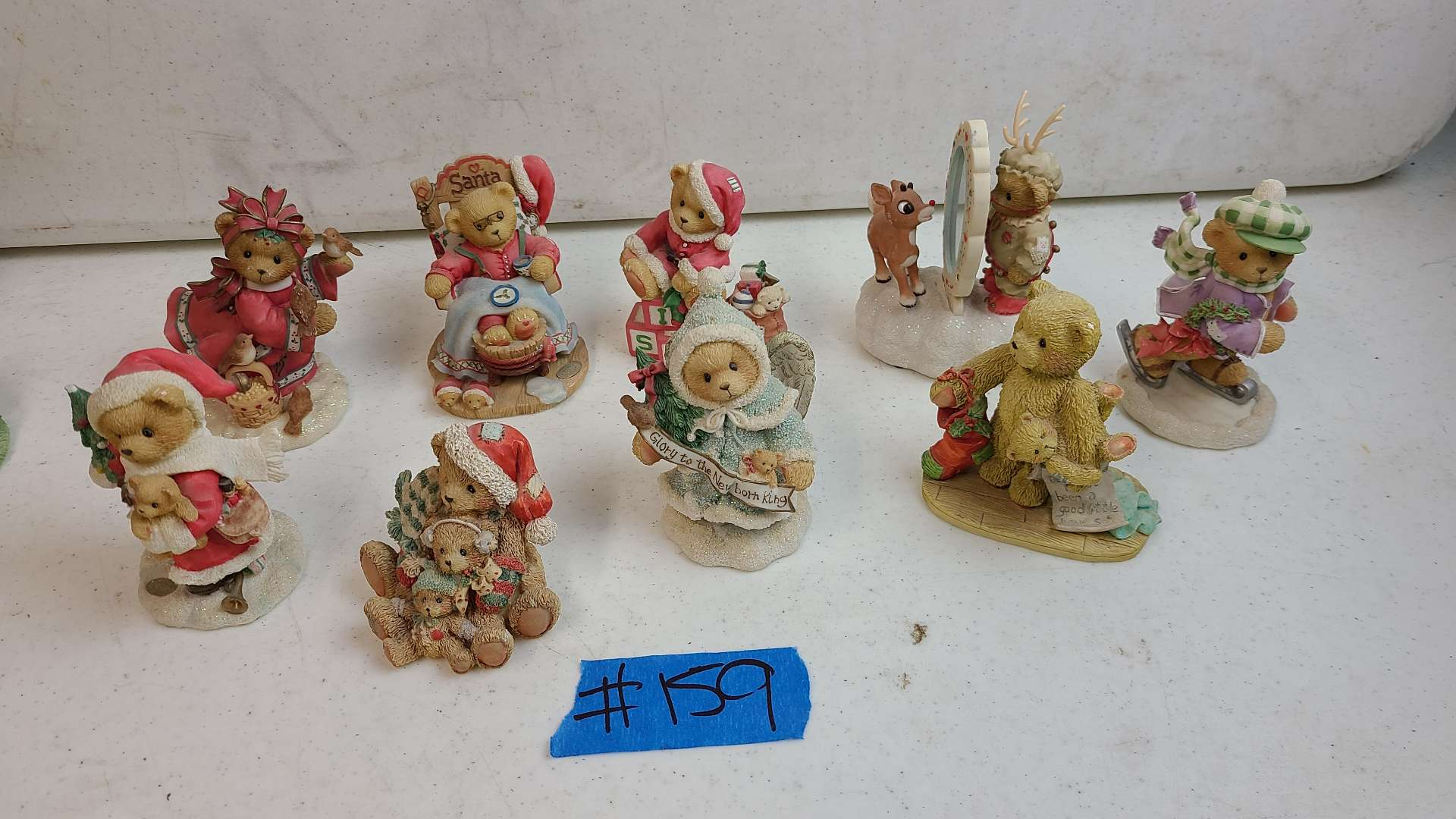 """Lot # 159 Lot of Enesco """"Cherished Teddies"""" Collectable Figurines"""