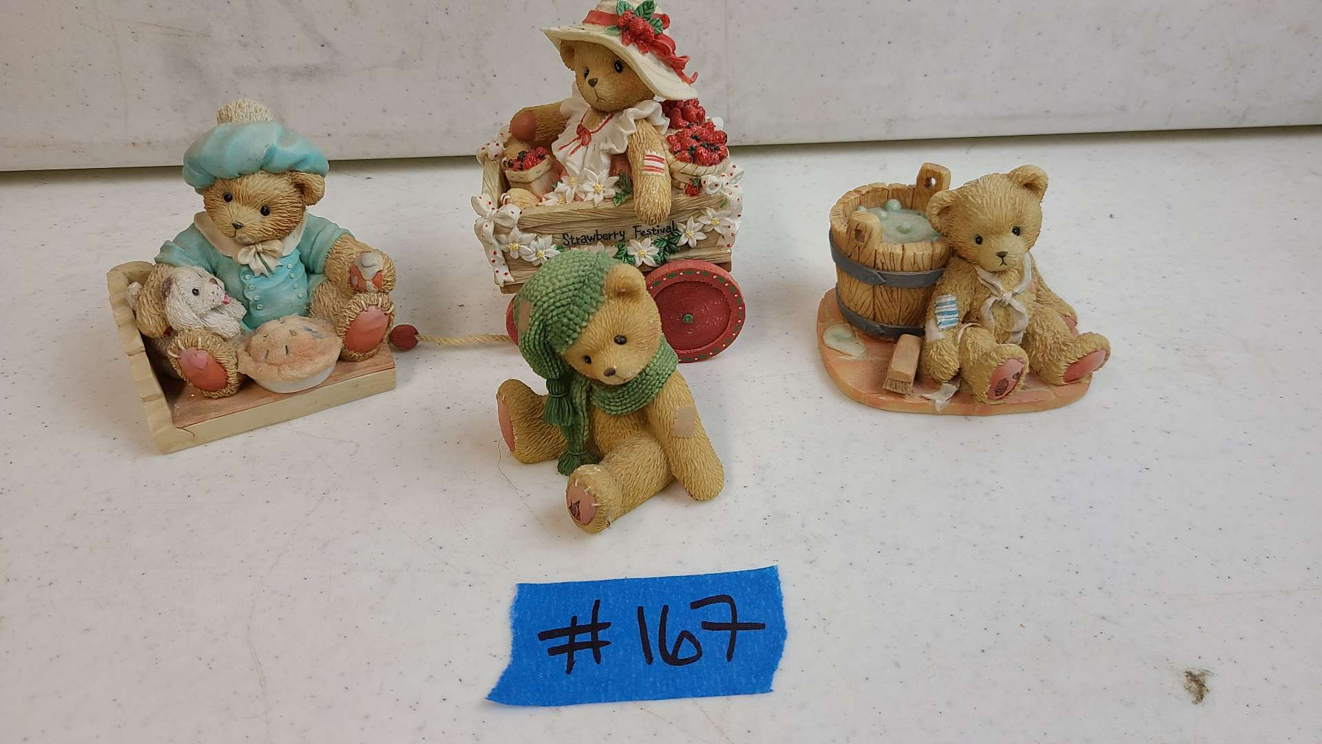 """Lot # 167 Lot of Enesco """"Cherished Teddies"""" Collectable Figurines"""