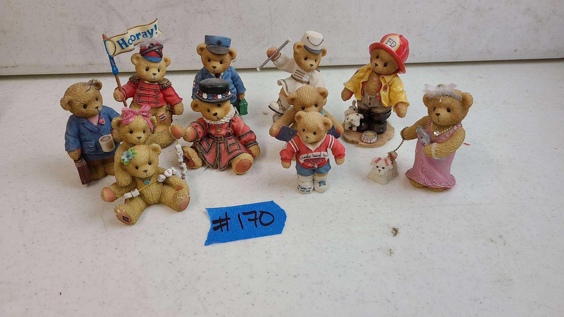 """Lot # 170 Lot of Enesco """"Cherished Teddies"""" Collectable Figurines"""