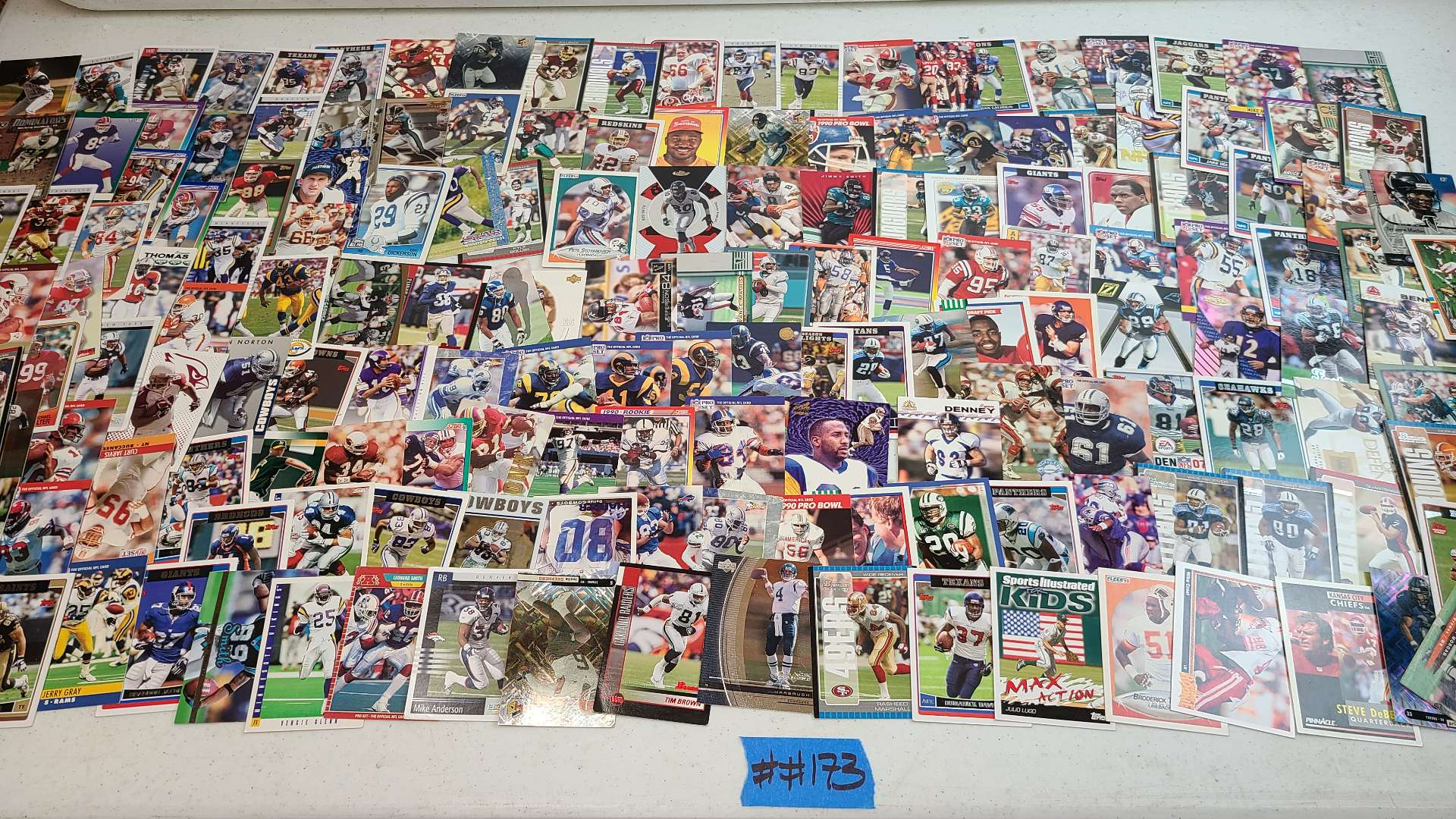 Lot # 173 LARGE Lot of Various Football Trading Cards-See Pictures