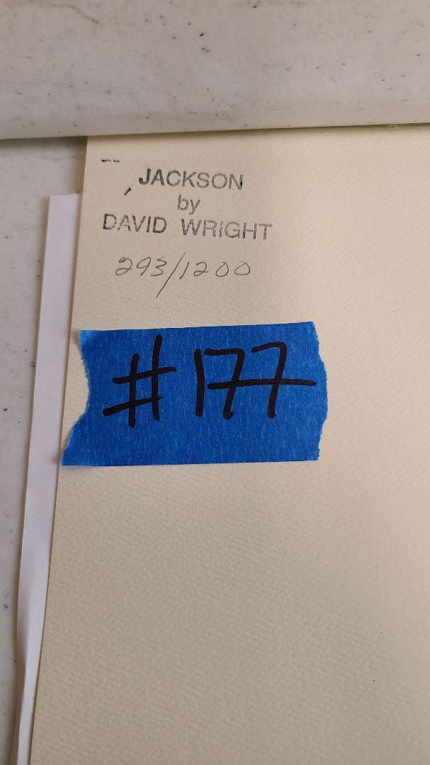 """Lot # 177 """"Jackson"""" by David Wright Signed & Numbered Lithograph"""