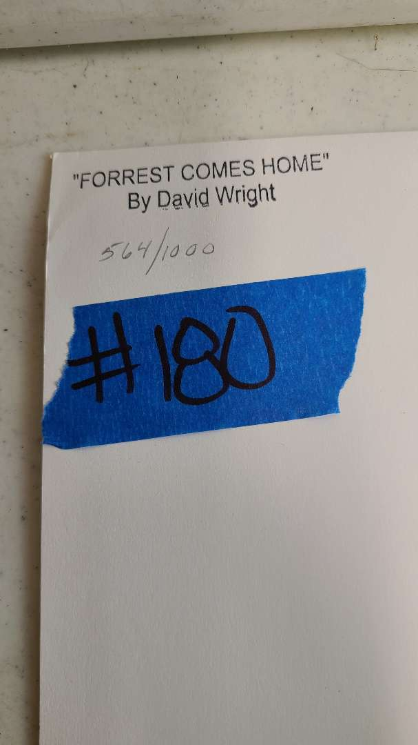 """Lot # 180 """"Forrest Comes Home"""" by David Wright Signed & Numbered Lithograph"""