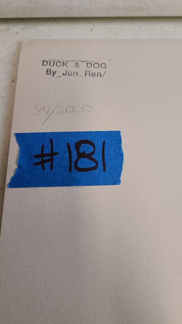 Lot # 181 Jon Ron Signed & Numbered Lithograph