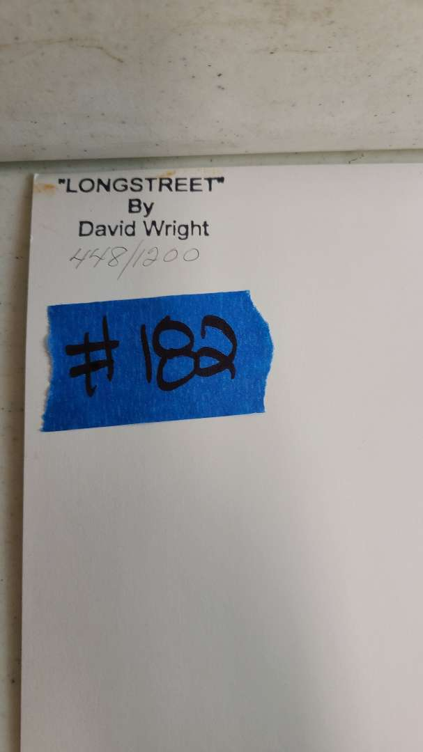 """Lot # 182 """"LongStreet"""" by David Wright Signed & Numbered Lithograph"""
