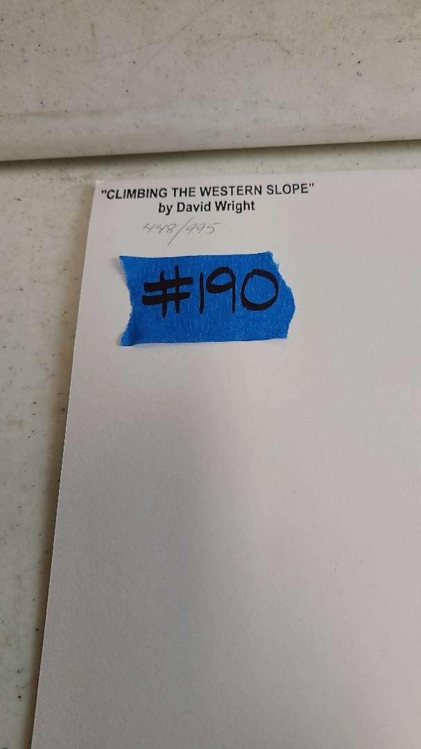 """Lot # 190 """"Climbing the Western Slope"""" by David Wright Signed & Numbered Lithograph"""