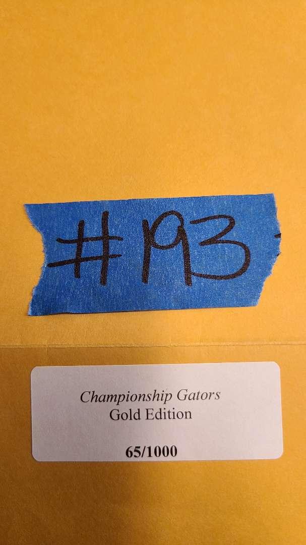 "Lot # 193 ""Championship Gators"" Signed Lithograph W/ CoA"