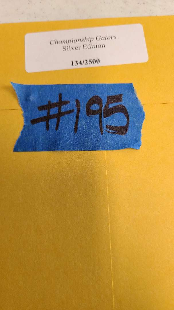 "Lot # 195 ""Champinship Gators"" Signed & Numbered Lithograph w/ CoA"