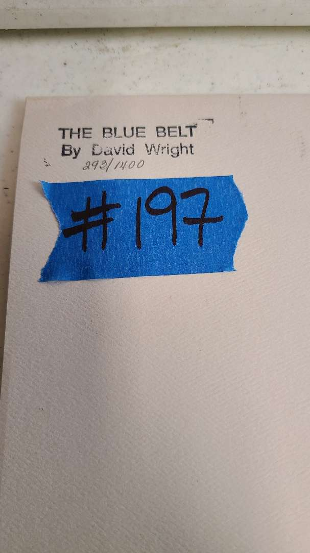 """Lot # 197 """"The Blue Belt"""" by David Wright Signed & Numbered Lithograph"""