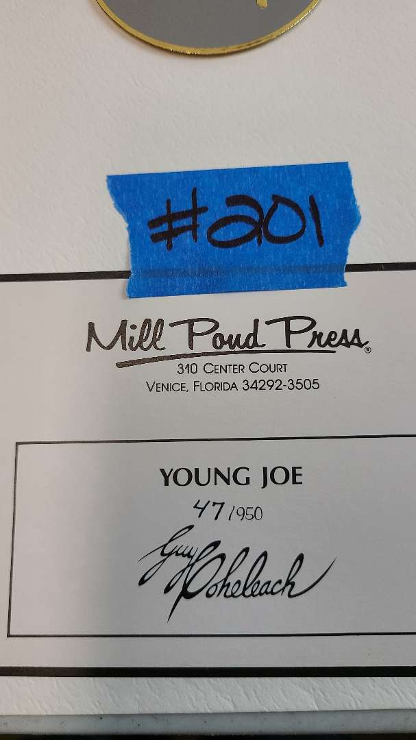 """Lot # 201 """"Young Joe"""" Signed & Numbered Lithograph"""