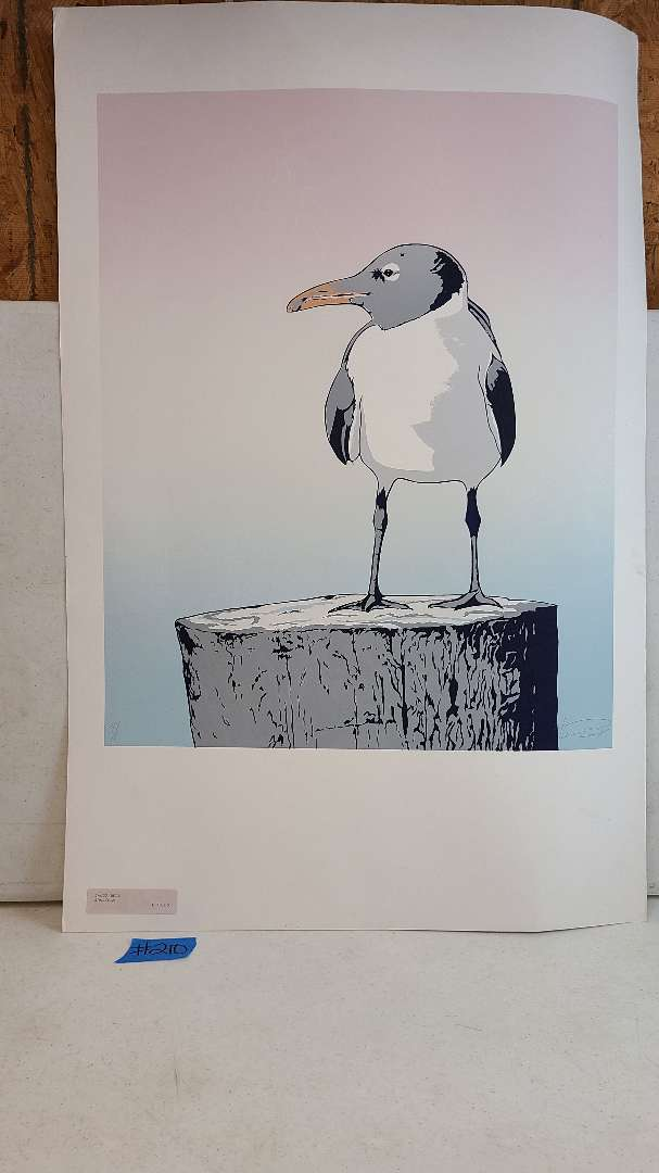 Lot # 210 Signed & Numbered Seagull Lithograph
