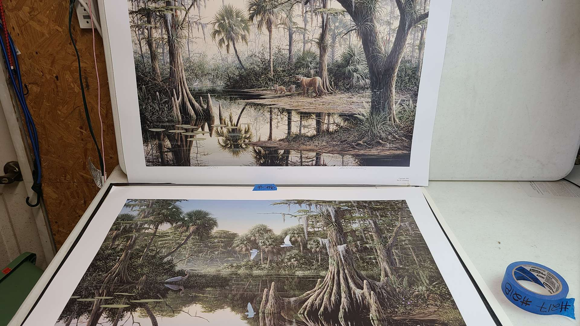 """Lot # 216 """"Legacy"""" and """"Morning Glory"""" by Ben Essenburg Signed & Numbered Lithograph"""